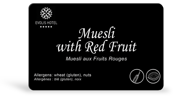 Muesli sample card