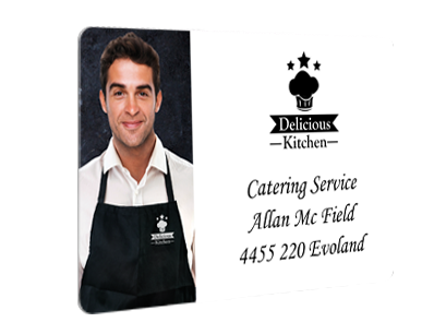 Sample badge for caterer