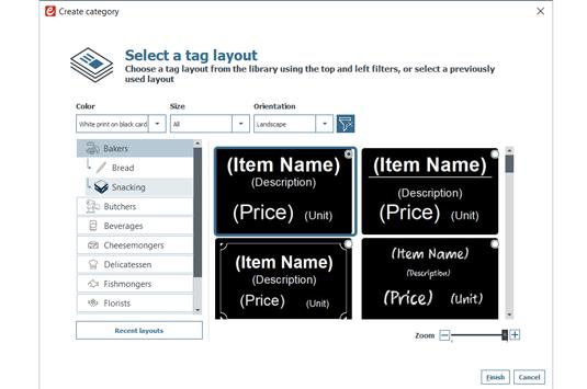 Edikio Price Tag software view