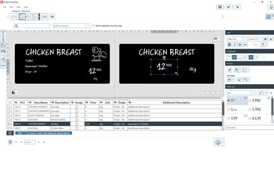 Edikio Price Tag software Hybrid view STANDARD