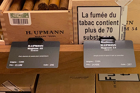 cigar price tags