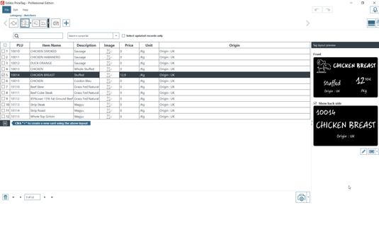 Edikio Price Tag software Hybrid view PRO